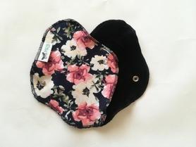 wkładka higieniczna mini kwiaty czarna