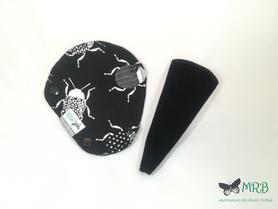 wkładka higieniczna string czarne żuczki