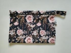 duża saszetka PUL róże i klucze