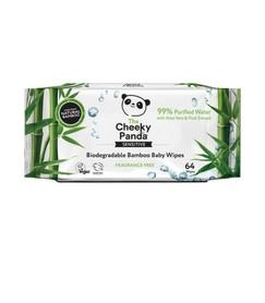 Bambusowe chusteczki nawilżane z wyciągiem z aloesu i owoców - The Cheeky Panda - 64 szt