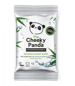 Bambusowe chusteczki nawilżane z wyciągiem z aloesu i owoców - podręczne opakowanie - The Cheeky Panda - 12 szt