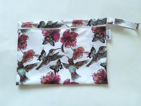 duża saszetka PUL kolibry w hibiskusach