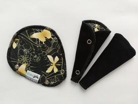 podpaska mini-string złota łąka z czarnym welurem
